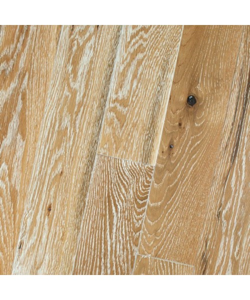 Premium Character Wire Brushed White Oak Natural Limed